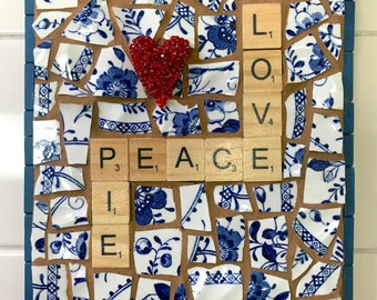 SOLD! Love, Peace and Pie Mosaic