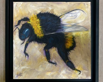 Bumblebee Painting, Free Shipping