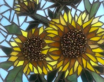 Mosaic Art Sunflowers and Bumblebee