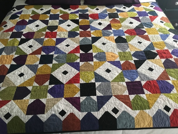 Colorful DANDY STARS Quilt