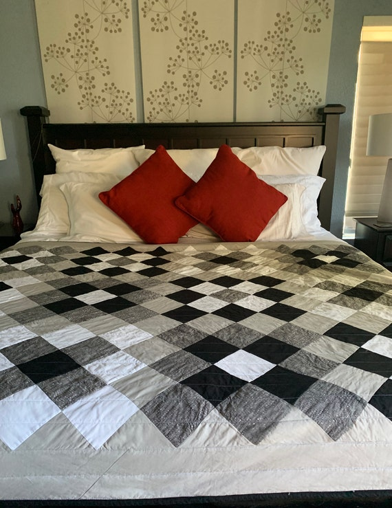 All About Grey - Handamde Quilt