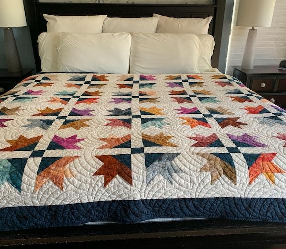Batik Half-Star Quilt