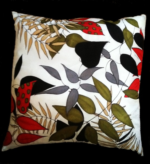 Just One of The Bunch- Decorative Hand Painted Silk Pillow -- Made to Order