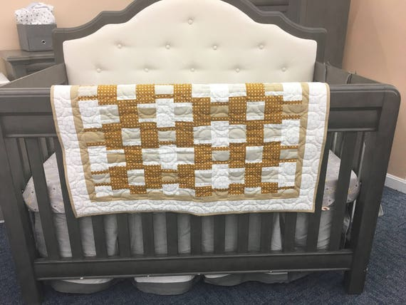 Modern Handmade Gender-Neutral Baby Quilt