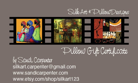 GIFT CERTIFICATE for One Silk Pillow