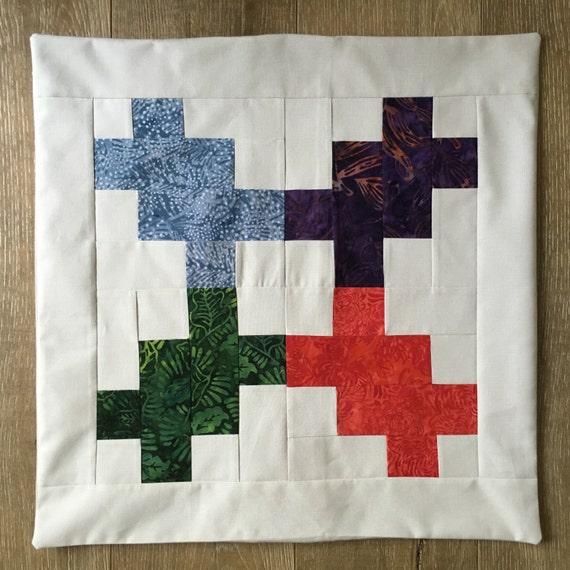 SPLASH OF BATIK 1 - Custom Decorative Pillow Cover