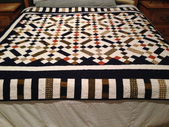 Nine Patch and Rails - Quilt