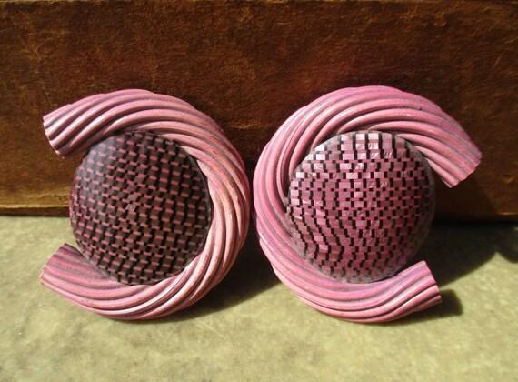 Vintage 1930s Purple Celluloid Belt Buckle