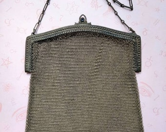 Vintage 1920s Silver Mesh Purse by Whiting & Davis
