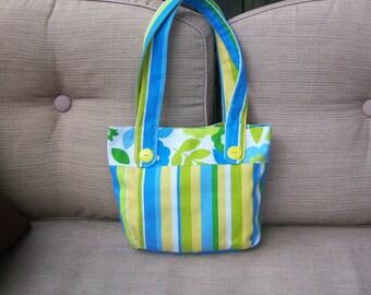 ff1577919 The Bridgett Bag-Blue, Green and Yellow Canvas