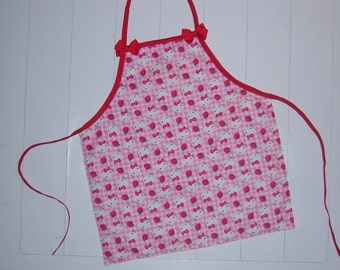 Child's Pink Hello Kitty Apron