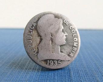 Repurposed 1 Centavo Republica de El Salvador Coin EL SALVADOR Coin Tie Tack  Lapel Pin