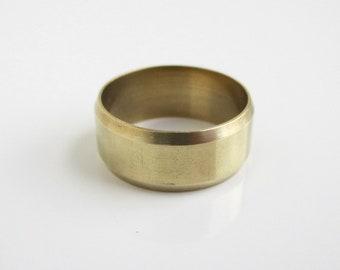Plain brass band-brass ring-plain brass ring-new design brass ring-wedding band-brass band for women-0011