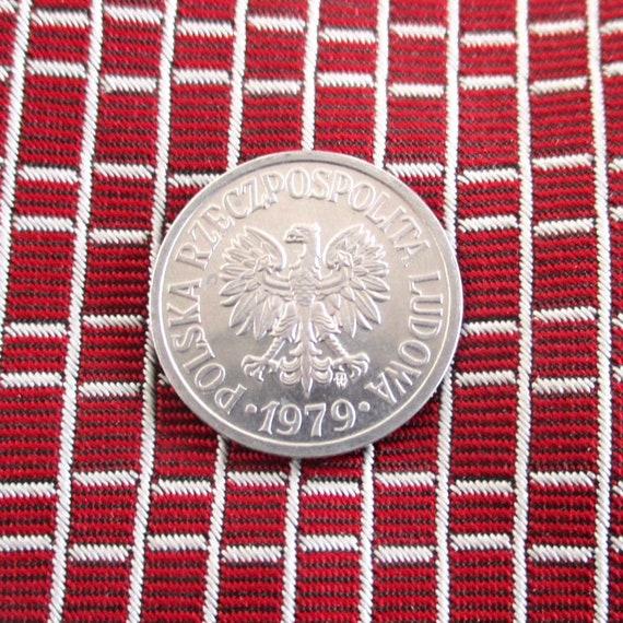 Irish Lucky Rabbit Coin Tie Tack  Lapel Pin Repurposed Vintage Eire Ireland 3p Coin