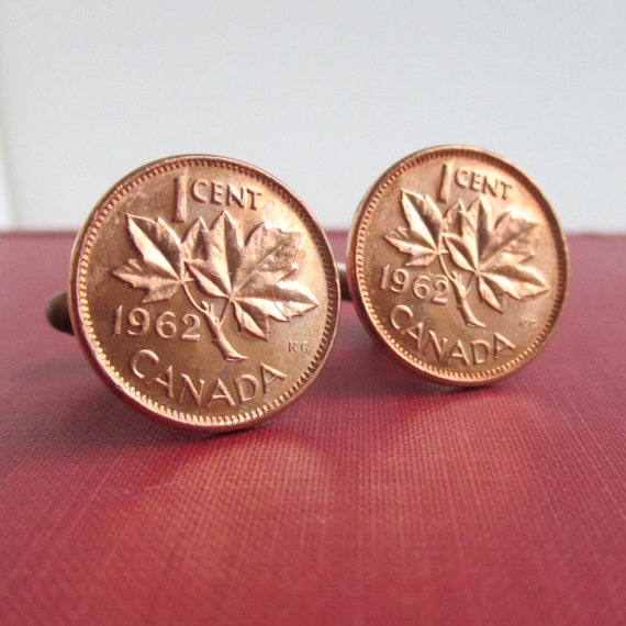 Credit Card Money Clip Vintage Canada Maple Leaf One Cent Penny