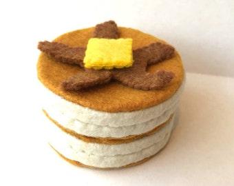 Felt food Pancake set, eco friendly toy, felt pancake, felt food pancake, play food pancake, play food breakfast, felt breakfast