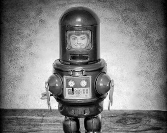 Robot Print - Boys Room Decor - Robot Art - Robot Photo Print