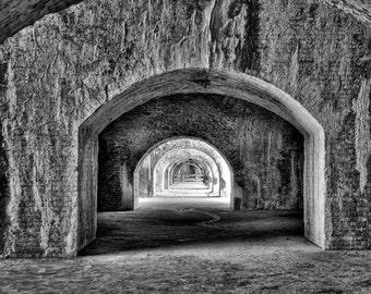 Fort Pickens Arches Near Pensacola Florida Art Photograph Military Art