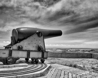 Fort Pickens Cannon Near Pensacola Florida - Florida Art Photograph Military Art