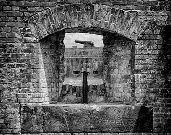 Fort Pickens Cannon Near Pensacola Florida Art Photograph Military Art