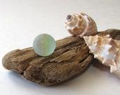 SEA GLASS MARBLE Genuine Surf Tumbled 14mm Beach Glass Marble Cat 39 s Eye Inside Mermaids Tear Craft Supply Jewelry Making