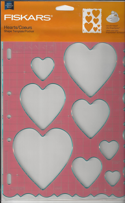 Fiskars Hearts Shape Template 4855 Use With Shapexpress Etsy