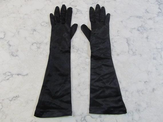 OPERA LONG Length STRETCH VELVET Gloves BLACK