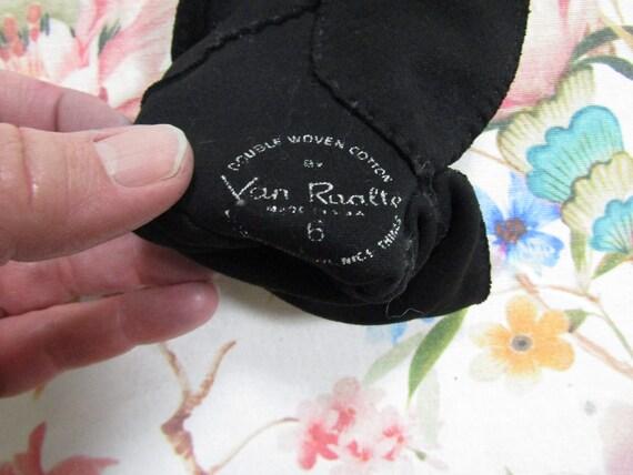 Vintage Black Cotton Beaded Fancy Cuffed Gauntlet… - image 5