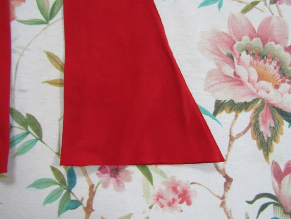 Vintage True Red Cotton Elbow Length Gauntlet Glo… - image 2