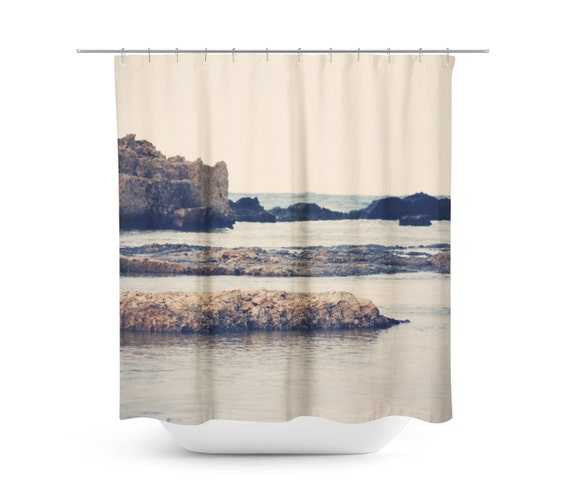 Navy Shower Curtain Mediterranean Sea Nautical Photography
