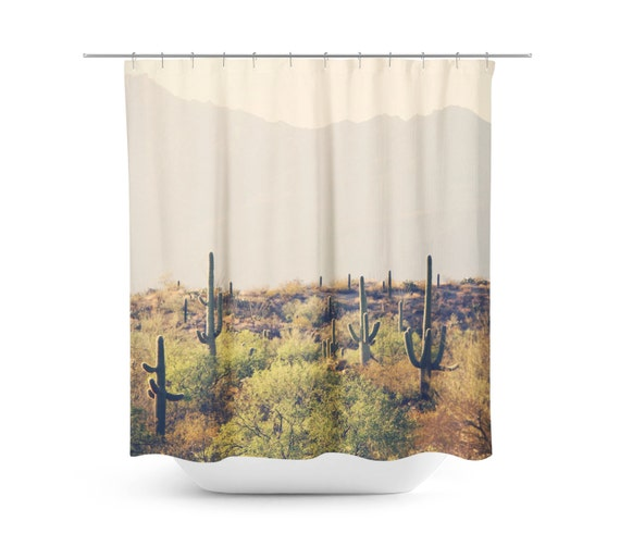 Superieur Cactus Shower Curtain Desert Home Decor Rustic Bathroom | Etsy