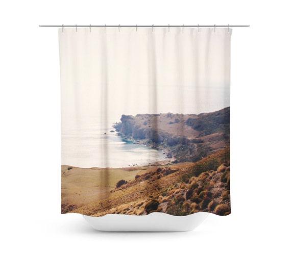 Cove Shower Curtain Greek Photograph Mediterranean Photo