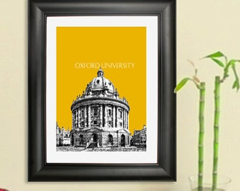 Oxford University Print - Oxford England - Graduation Print - Art Poster