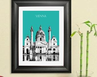 Vienna Austria Skyline #1 Poster - Vienna Austria Art Print