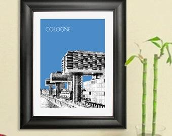 Cologne Germany Skyline #2 - Cologne Germany Art Print