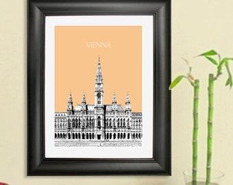 Vienna Austria Skyline #2 Poster - Vienna Austria Art Print