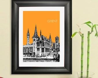 Ghent Skyline Poster - Ghent Belgium Art Print