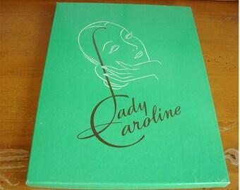 """Vintage Pair Lady Caroline """"Tantone"""" Nylon Stockings"""
