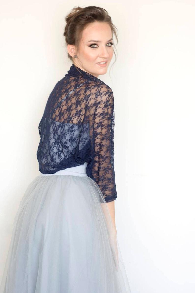 navy blue bolero lace shawl blue lace bolero shawls and wraps Navy shawl bridesmaid shawl evening shawl