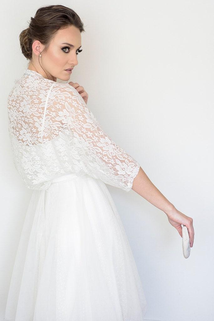 Plus Size Bridal Cover Up Wedding Lace Bolero Plus Size Etsy