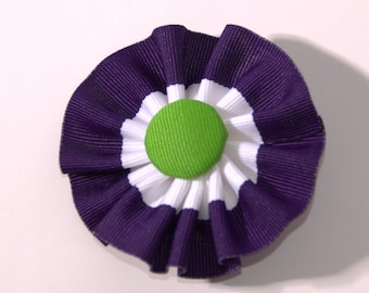 Suffragette U.K. Cockade Ribbon Hat Trim Brooch Suffrage Rosette Purple White Green