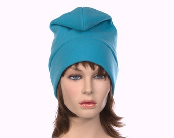 Turquoise Phrygian Cap Front Facing Pointed Elf Gnome Cartoon Hat Liberty Cap Adult Men Woman Hat Warm Winter Hat Fleece
