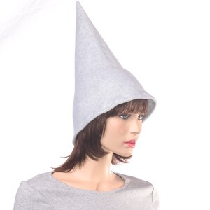 Black Wizard Hat with 5 Pointed Stars in White and Yellow Tall Pointed Cap Fleece Mens Costume Hat Magicians HatLong