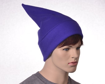 Purple Short Elf Hat Stocking Cap Adult Women Mens Beanie Purple Gnome Dwarf Costume Unisex Pointed Beanie