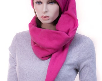 Magenta Extra Long Stocking Cap Wrap around Hat 5 ft Long