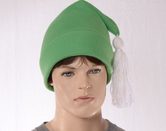 Light Green Stocking Cap with Tassel Unisex Adult  Mens Womens Hat Pointed Hat Phrygian Liberty Style
