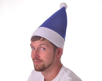 Blue Elf Hat Standing Gnome Cap Holiday Beanie