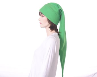 Green Elf Hat  Stocking Cap Hero Hat Extra Large Long Pointed Hat
