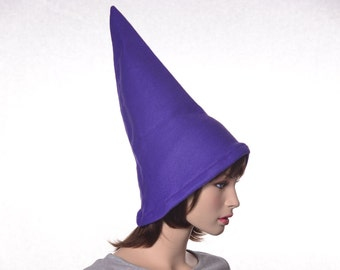 Deep Purple Gnome Hat Tall Pointed Mens Hat Womens Hat Extra Tall