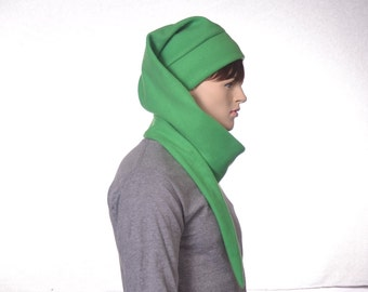 Green Stocking Cap Super Long Elf Hat Long Pointed  Extra Long Beanie 5 Foot Long Tail Hat Scarf Hat